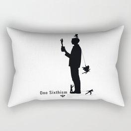 One Sixth Ism (Black Statue) Rectangular Pillow