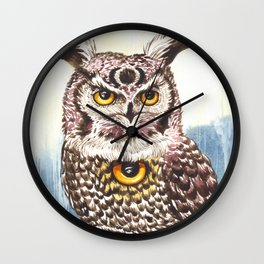 Owl Seeing Eye Wall Clock