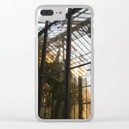 Golden Light in the Greenhouse Clear iPhone Case