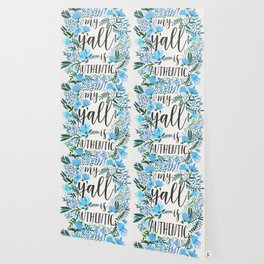 My Y'all is Authentic – Blue Palette Wallpaper