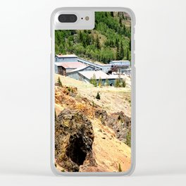 Mayflower Gold Ore Mill, on the Animas River above Silverton Clear iPhone Case