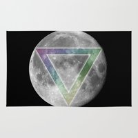 lunar Area & Throw Rugs featuring Lunar Eclipse by Karolis Butenas