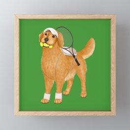 Ready for Tennis Practice (Green) Framed Mini Art Print