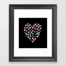 Hearts Heart Black Framed Art Print