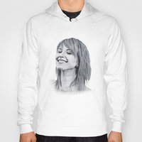 hayley williams Hoodies featuring Hayley Williams Portrait. by Dioptri Art