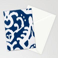 Navy Ikat Stationery Cards