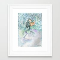 aquarius Framed Art Prints featuring Aquarius by Aline Souza de Souza