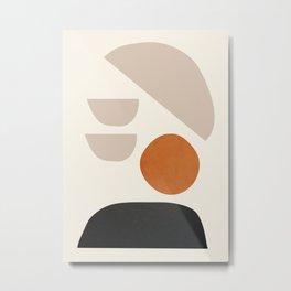 abstract minimal 62 Metal Print