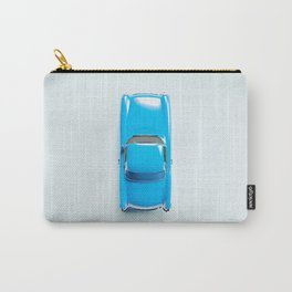 Vintage Blue Car on White Carry-All Pouch