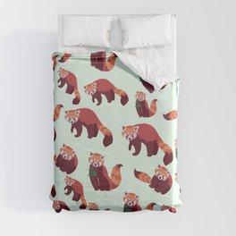Red Panda Pattern Duvet Cover