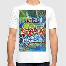 Wishing on a Star White MEDIUM Mens Fitted Tee