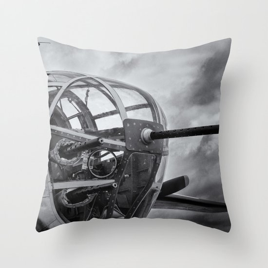 B-25 Nose Guns Throw Pillow