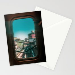 Subway Track Stationery Cards