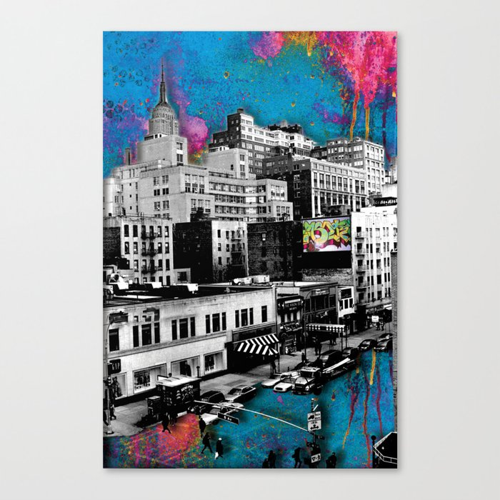 Paint The Town Canvas Print