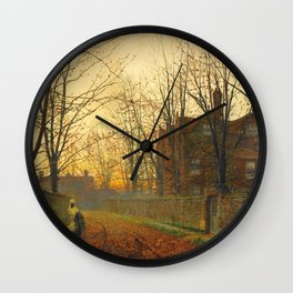 John Atkinson Grimshaw - Late October - Victorian Retro Vintage Painting Wall Clock
