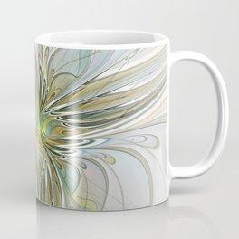Floral Fantasy, Abstract Fractal Art Coffee Mug