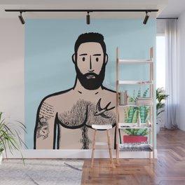 Beard Boy: Javier Wall Mural