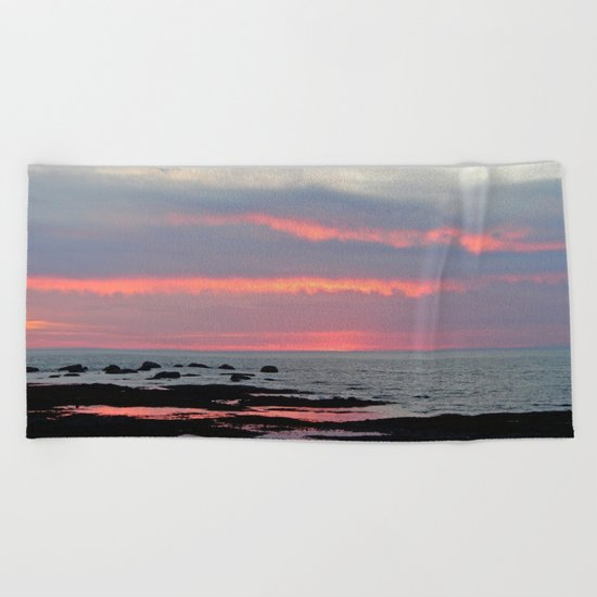 Texture Filled Clouds Beach Towel