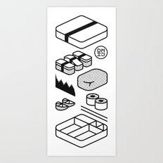 Bento Box Art Print