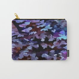 Foliage Abstract In Blue and Lilac Tones Carry-All Pouch