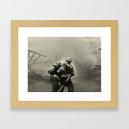 Fire Fighters Framed Art Print