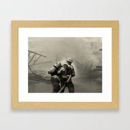 Fire Fighters Framed Art Print