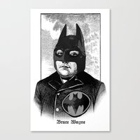 bat man Canvas Prints featuring BAT MAN by DIVIDUS