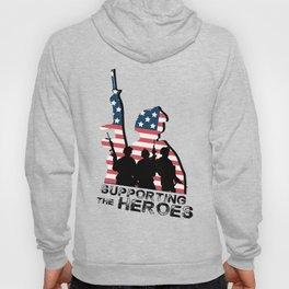 Support My Heroes Memorial Day American Flag Hoody