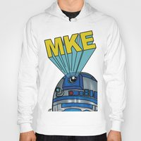 milwaukee Hoodies featuring Milwaukee: R2D2 MKE by Amanda Iglinski