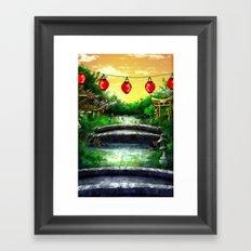 A Bridge Over Placid Waters Framed Art Print