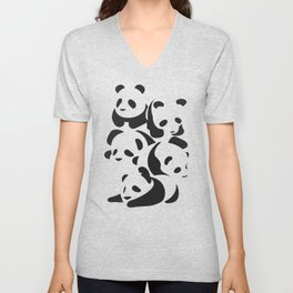 Panda Panda Unisex V-Neck