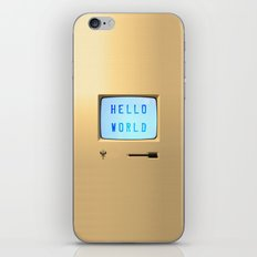 Hello World Personal Computer iPhone Skin