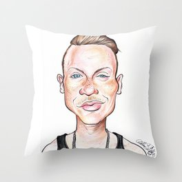 Macklemore Caricature Throw Pillow