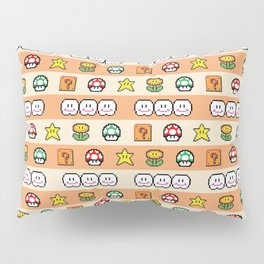 Pixel Game Retro (Orange) Pillow Sham