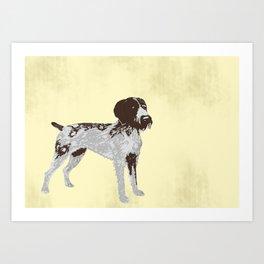 German Wire Hair Pointer Dog Art Print