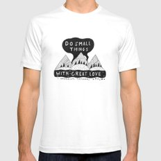 Do Small Things With Great Love White Mens Fitted Tee SMALL