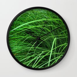 470 - Abstract Grass Design Wall Clock