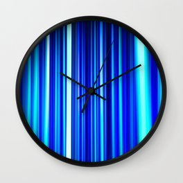 Frost Blues LED Sculpture Light Painting Wall Clock