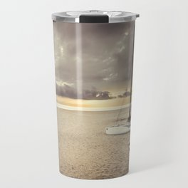Dramatic sunrise on the beach Travel Mug