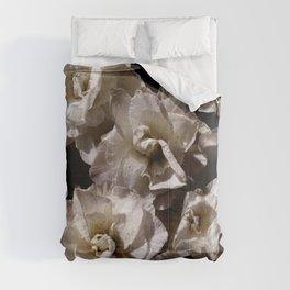White Narcissus photograph Comforters