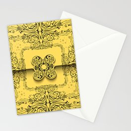 Abstract ornament background Stationery Cards