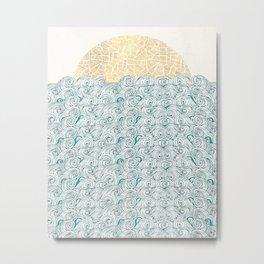 Sunny Tribal Seas Metal Print
