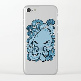 Octopus Squid Kraken Cthulhu Sea Creature - Sailor Blue Clear iPhone Case