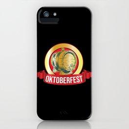 Oktoberfest Beer Mug Beer Keg iPhone Case