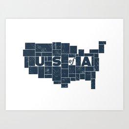 U S of A Art Print