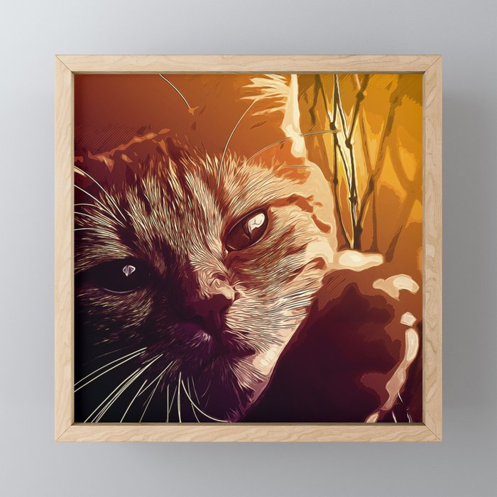 set your cat free vector art Framed Mini Art Print