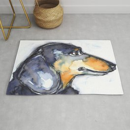 Portrait of a Dog, Dachshund Rug