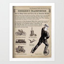 Emergency Transportation Promo for The Sreampunk World's Fair Art Print