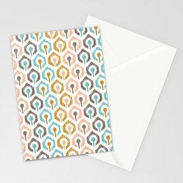 Honeycomb IKAT - Ivory Stationery Cards