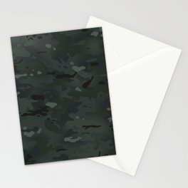 Camouflage: Black Stationery Cards